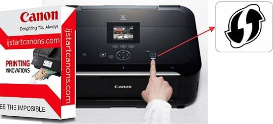 Wo finde ich die WPS Taste am Canon Drucker
